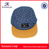 Custom Design Snapback 5 Panel Cap/Hat With Floral Printed Fabric/Oem Your Woven Label Patch