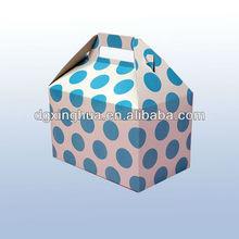2 Holes Cupcake Box Polka Dot