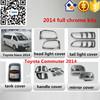 Toyota Hiace Commuter 2014- full chromed kits toyota hiace chrome trim accessory cars exterior accessories