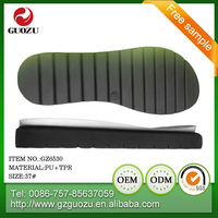 women pu upper material and tpr outsole material boot shoe outsoles