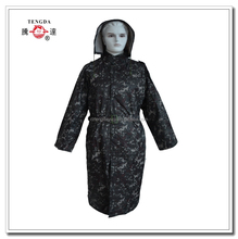 changzhou OEM 190T polyester camouflage rain coats for military