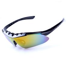 2014 de moda con el arco iris y lente intercambiable gafas de bicicletas