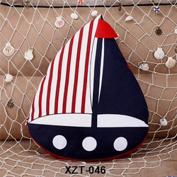 New arrival hot sale mediterranean style sailing shape home decor creative throw pillow