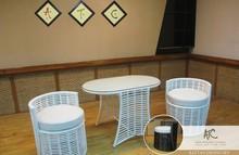 Rattan Coffee Table (Alu Frame 1.2 Waterproof cushion,UV protection,SGS certificate)