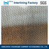 China 100% Polyester elastic fabric woven fusible interlining