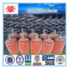 Factory direct selling solid type marine foam filled fender mooring buoy