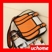 UCHOME Latest 3D 2D Comic Cartoon Contrast Camera Bags,Shoulder bag,Cross body bag,handbag