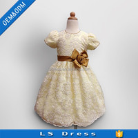 Good child prom beautiful baby cotton flower girl princess dresses