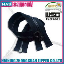 HAS zipper fancy puller beautiful teeth metal fastener black gold sweater zip
