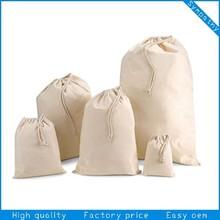 high quality custom cotton shoe bag/cotton drawstring bag/cotton string bag