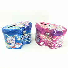 Cute heart linked to heart the expression pf love,the coin bank money tin box