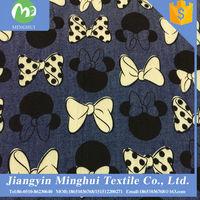 100%cotton light weight denim fabric for shirt check denim