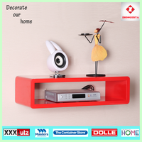 high gloss MDF decorative wall shelf