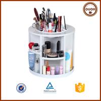 Exquisite Rotatable 360 Degree Manufacturer Wholesale Custom Plastic Makeup Organizer Rotating Cosmetic Display