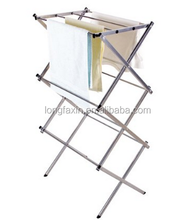 Storage Compact Folding Water-resistant Steel Drying Rack, 3-tier Durable Clothes Drying Rack 22.44 x 14.57 x 41.34 inches