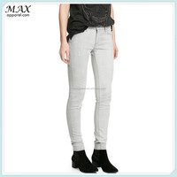 European brand style womens pants cotton blend high quality sexy girls hot picture skinny jeans