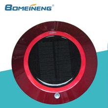 BMN909-4 Red solar power vehicle air purifier , Carbon Fiber Ionizer car air purifier wholesale