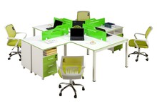 Modern malemine desktop four people office workstation