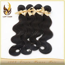 Raw unprocessed peruvian hair weft cheap and high quality 100 human hair extensions