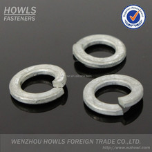 Hot dip galvanized HDG zinc plated and stainless steel 304/316 sus304/316 ss304/316 spring washer din127