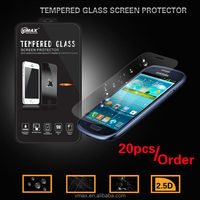 9H 2.5d Anti-Crack Anti-Dust Cell Phone/Mobile Phone 0.2mm tempered glass screen protector for Samsung galaxy s3 mini