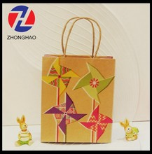 2015 New Arrived craft small size printed handmade unique recycled kraft gift bag