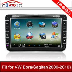 Bway 8 inch car dvd player for VW Bora Sagitar 2006-2010 car Video player with GPS,car Radio bluetooth,steering wheel