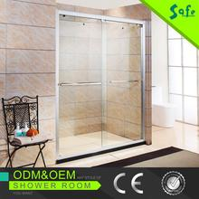 Aluminum Safety Clear Glass Full Framed bath Shower Screens