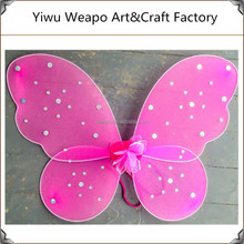 New arrival hot sale cute girl party fairy wings wholesale pink fairy wings BW-235