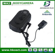 Worlds smallest hd digital video body worn camera infrared with One key operation mini cctv camera for law enforcement