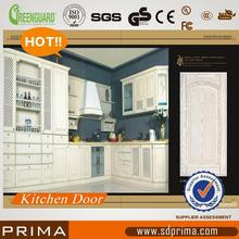 Plastic high gloss vinyl wrap doors kitchen cabinets with CE certificate