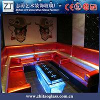 european combination cheap glass LED bar table