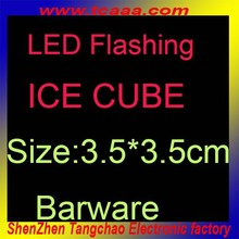 Waterproof ice cube with LED