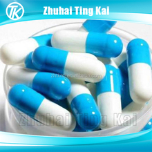 Gelatin hard size 00 hollow capsules blue and white