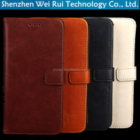 china supplier wallet flip mobile phones covers for xiaomi redmi note 2 case