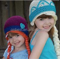handmade knitting frozen elsa hats funny knitted hat