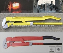 45 degree S style drop forged bent nose Pipe wrench plier with PVC dipped handle