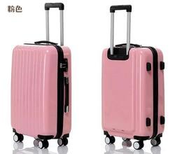 Cute Girls Pink 4 Wheeled Hard Shell PC Travel Luggage