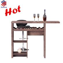 El nuevo Muebles de la barra casera moderna, mesa de bar nogal PVC