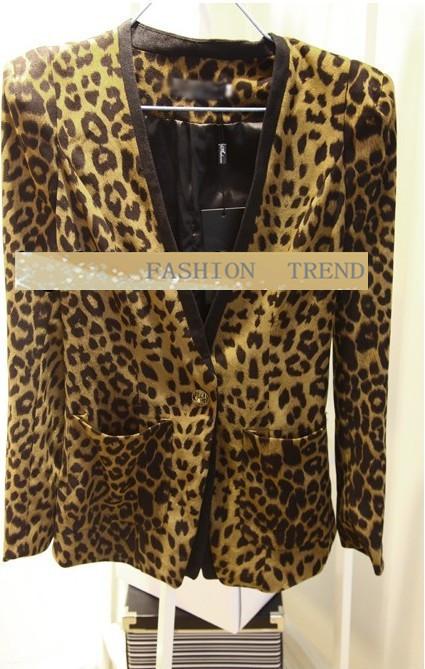 новые и ветер плечо колодки замша леопарда женщин малых куртка rc043
