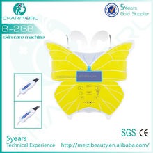 Easy peel off sticker Butterfly ultrasonic skin scrubber with 2 probes