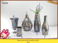 Wholesale Mosaic Glass Vase,Mosaic Flower vase, Mosaic glass vase