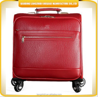 16 inch PU pilot case, bright color luggage travel bag, laptop trolley bag luggage travel bags