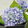 venta al por mayor de tacto real hortensia flores de seda decorativos