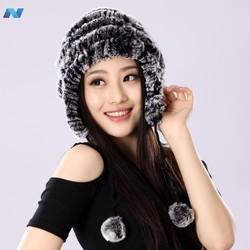 High Quality New Womens Faux Fur Winter Ear Cap Hat Ski Slouch Hot Hat Cap
