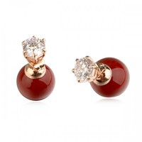 871240 new fashion double face pearls earrings 2015