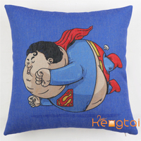Cute Hero Cartoon Digital Printing Sofa 45cmX45cmCushion Cover,Vintage Fashion Luxury Linen Fabric Pillow Case HT-PCILPC-C-21-28