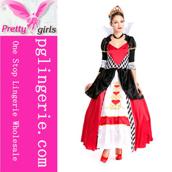 sexiest halloween costumes ,hot selling red queen costume ,costume shop.ie made in china for ladies M4615b