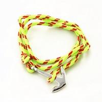 Wholesales nylon rope mens nautical bracelet jewelry,smart anchor bracelet 2015 for men