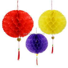 Red Pineapple lantern / nursery decoration red lanterns / festive paper lanterns / wedding decoration Mid-Autumn Day